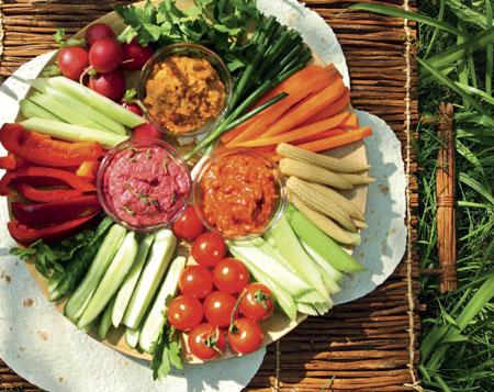 Летние дипы - рецепты закусок