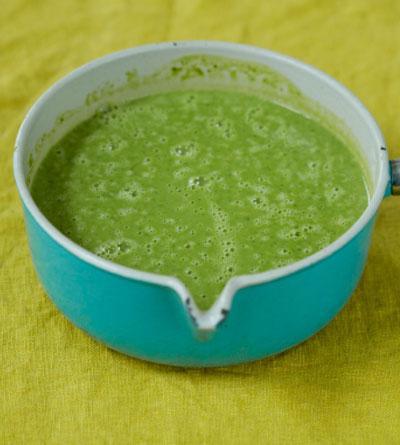 Крем-суп из зеленого горошк