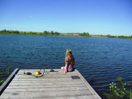 Озеро в Омской области
