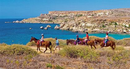 Пешие и конные прогулки на Мальте