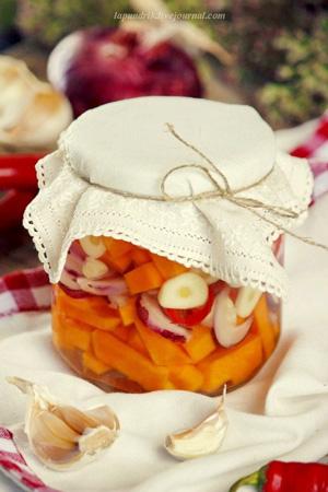 Рецепты из тыквы и яблок на зиму