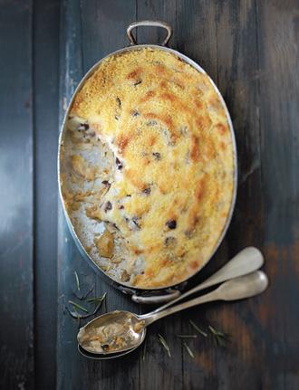 Ужин в духовке - Пармантье из сайды с маслинами