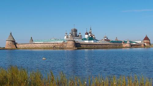 Соловецкий монастырь, вид с моря