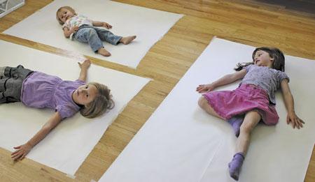 Конкурс для детей - рисование силуэта