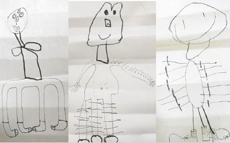 Смешные рисунки на детском празднике