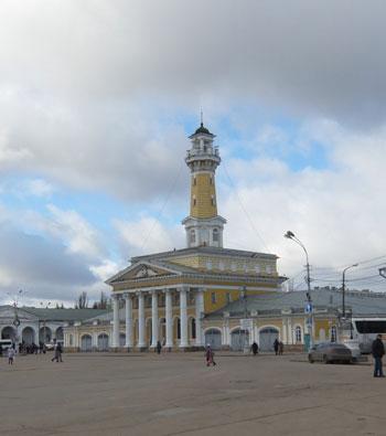 Пожарная каланча - один из символов Костромы