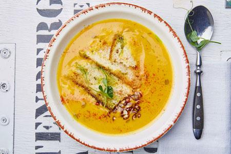 Гороховый суп в кружке, рецепт