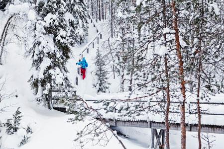 Активный отдых на Новый год в Финляндии