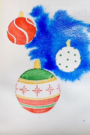 Рисуем акварелью новогоднюю открытку: мастер-класс