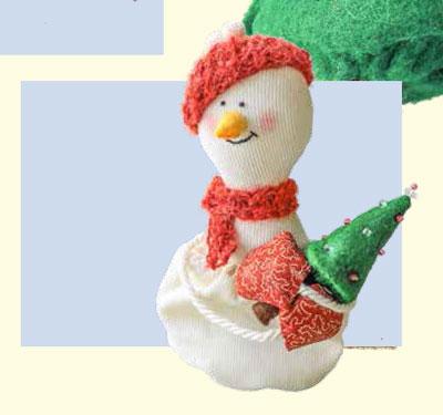 Текстильная кукла Снеговик своими руками