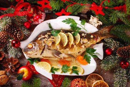 Запеченная рыба для новогоднего стола