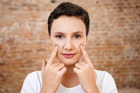 Уход за кожей лица, акупрессура