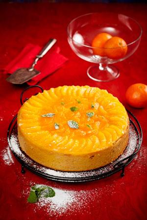 Мандариновый торт с желе, праздничный рецепт