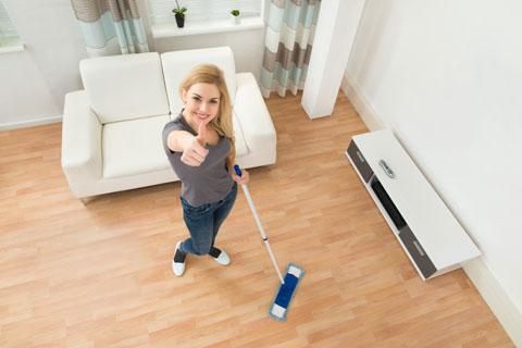 Уборка квартиры с помощью клининговой компании