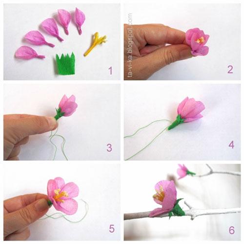 Цветок сакуры из бумаги своими руками EpifanAdmin.ru