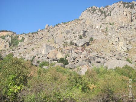 Каменный хаос из глыб