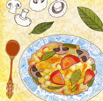 Нут с овощами в духовке