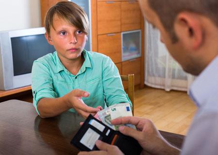 Сколько денег дать ребенк