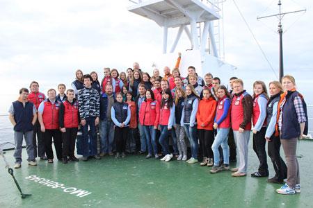 Участники экспедиции Арктический плавучий университет
