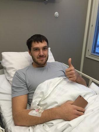 Баскетболист Андрей Кощеев после операции в клинике Neo