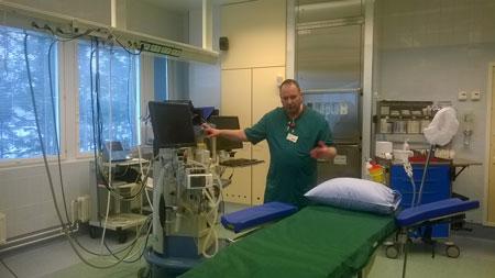 Микрохирургическая операционная в больнице Савонлинны