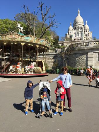 На Монмартре с детьми