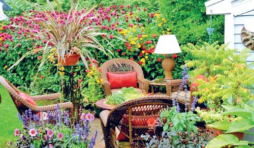 Отдельные зоны в саду