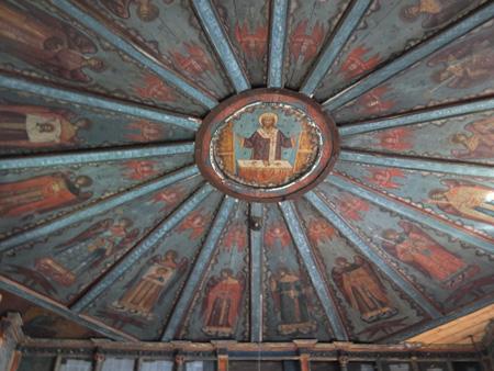 Расписной потолок-небо Успенской церкви в Кондопоге