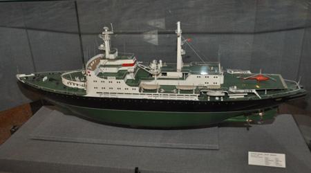 Модель ледокола в Краеведческом музее