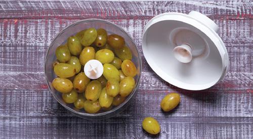 Быстрая гранита из винограда с лимоном