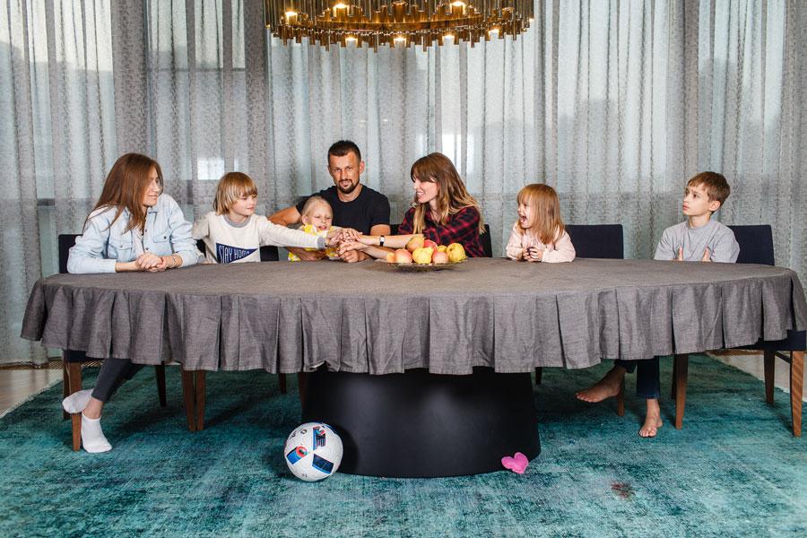 Анна Семак, Сергей Семак и дети