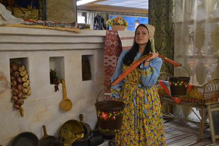 Кристина в Музее самовара  Коломне