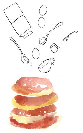Рецепт, оладьи на молоке