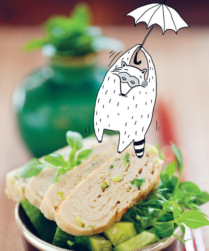 Японский омлет с зеленым луком