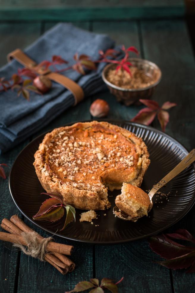 Тарталетки с тыквой и ореховым сахаром