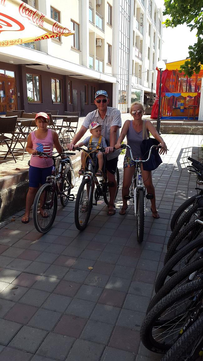 Купили велосипеды всей семье