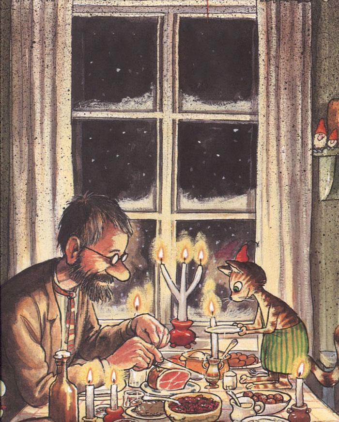 Новогодний сценарий про Петсона и Финдуса