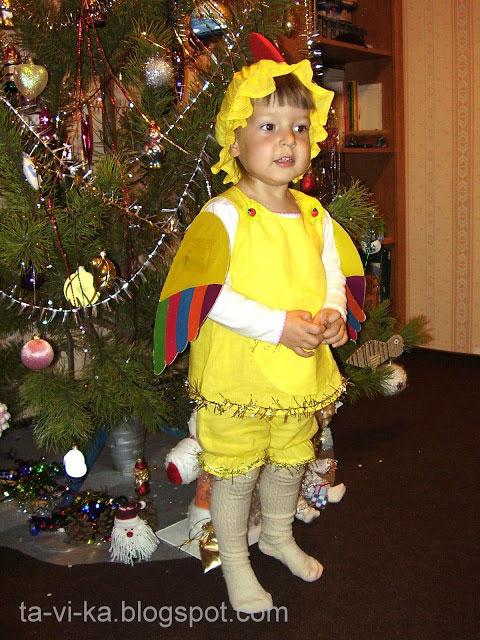 Новогодние костюмы своими руками: Снегурочка, цыпленок и ... - photo#42
