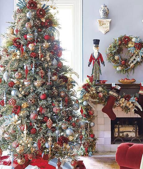 образец украшения елки