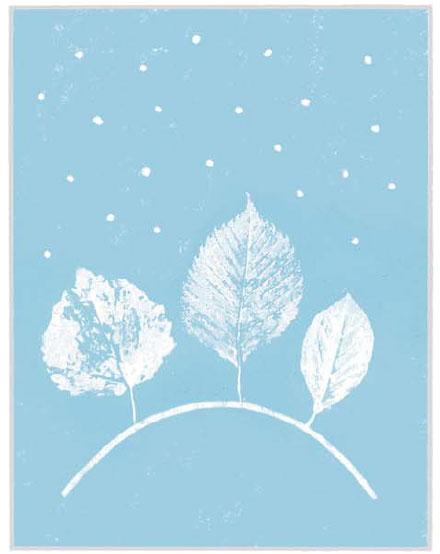 Зимние рисунки для новогодних открыток