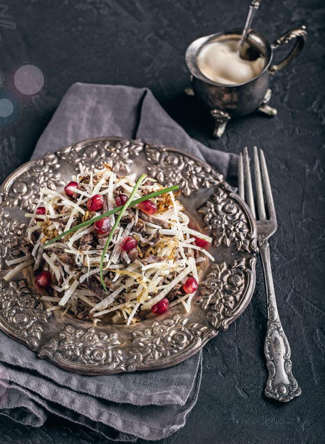 Салат из редьки, рецепт