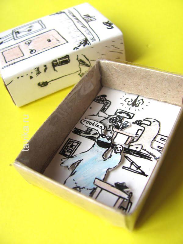 Подарок из спичечных коробков 378