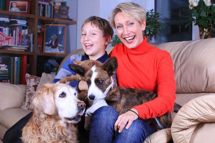 Ирина Богушевская с сыном