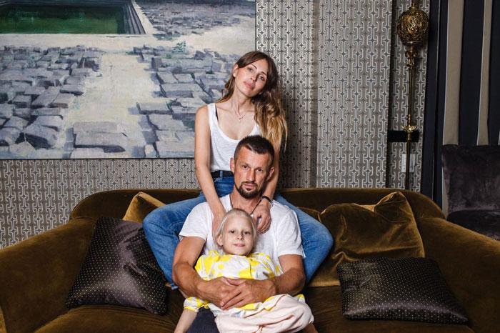Анна и Сергей Семак и их дочь Таня