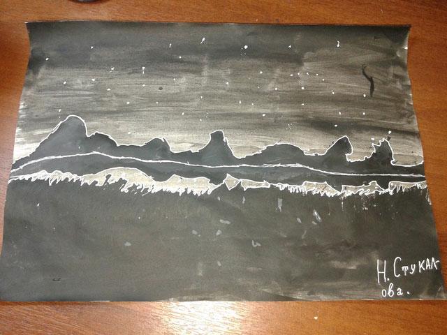 Натюрморт Ночь над рекой