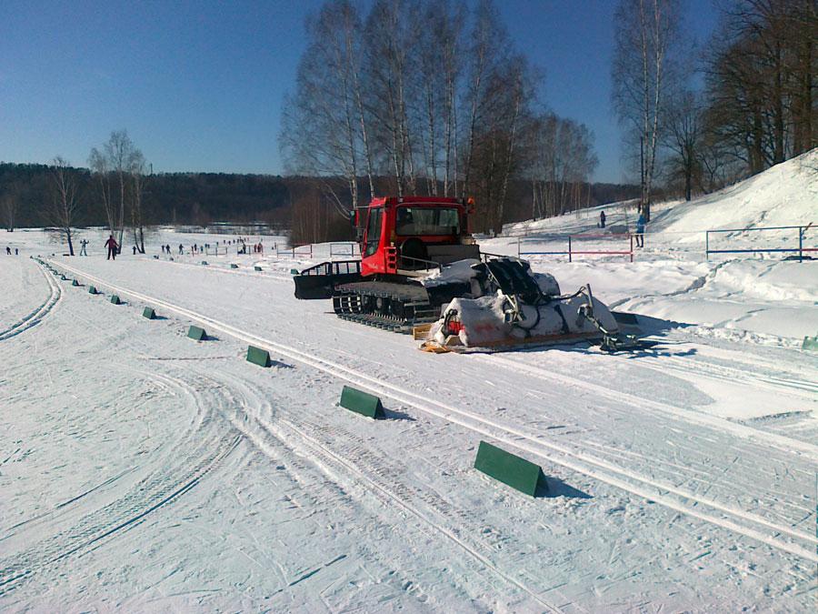 Лыжная трасса на Планерной