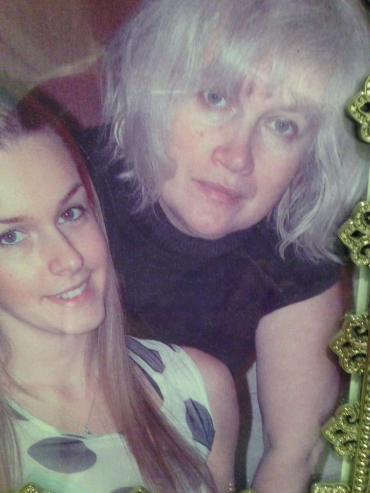 С мамой Еленой Воскобойниковой 10 лет назад