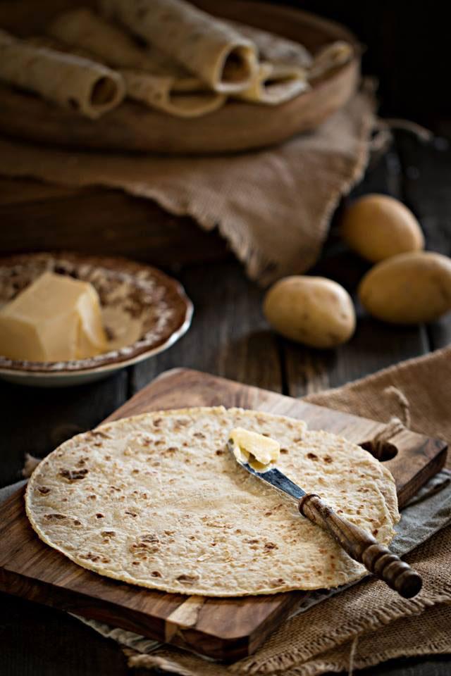 Норвежские картофельные лепешки на сковороде