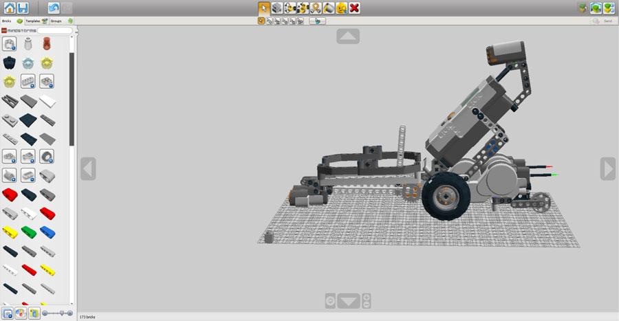 Интерфейс программы Lego Digital Designer