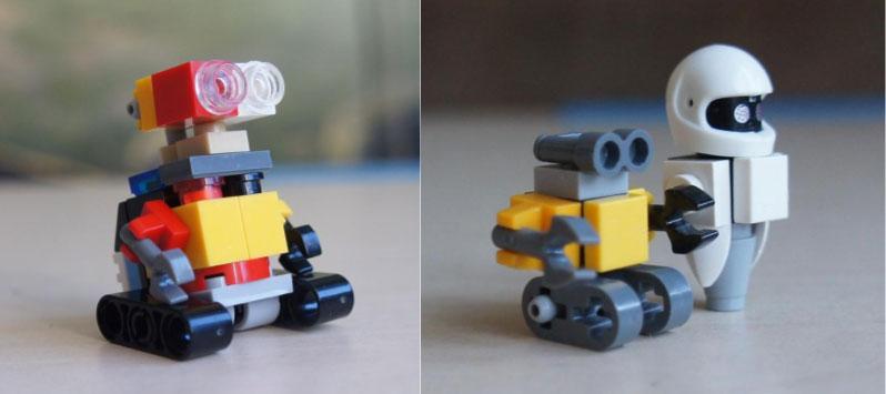 Ева и Валли из нескольких кирпичиков Лего